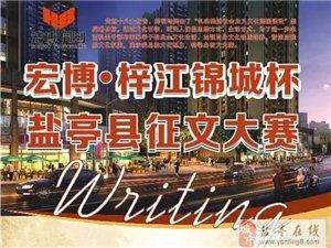 """盐亭首届""""宏博・梓江锦城""""杯征文大赛,苹果手机、ipad拿走不谢"""