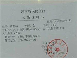 急!潢高95届的校友,陈林林同学不幸患上白血病,校友们都来帮帮她!
