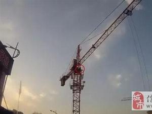 信阳光山一男子因经济纠纷爬上塔吊扬言自杀,被拘留处罚