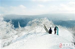 2016年12月雪谷徒一个一身黑袍步―30里羊草山―中国雪乡,雪乡实景那还不可能摄影