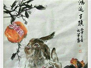 张笋国画小兔