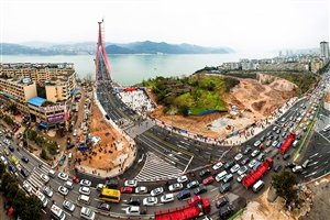 丰都长江二桥于今日通车,速看通车现场,好多人....