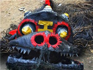 火焰狂欢,旬阳蜀河古镇烧狮子