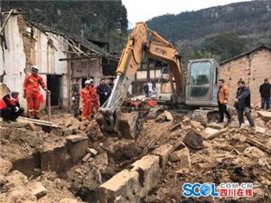 南江县赤溪镇一村民房屋垮塌致1人死亡