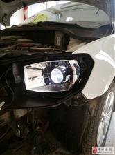 周口新捷达改灯,升级海拉六透镜全进口套装。