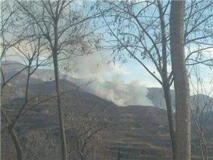 襄汾县新城镇汾道沟村附近山林突发大火 浓烟滚滚