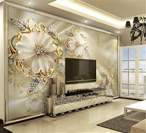 """""""让电视有个靠的住的墙""""雅居易艺术玻璃电视墙"""