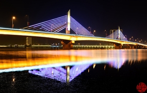 勉县定军大桥夜景,你怎能这么美!!