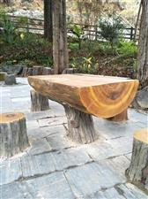 承接水泥仿真木制作,仿木护栏,各种各样的仿真木制品!