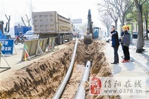 中心城区供水主干管道改扩建工程有序推进