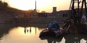 2017年3月26日下午宁国港口沙场一男子落水身亡