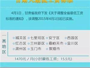 四月一日起,庆阳八县区人的工资标准有变动!