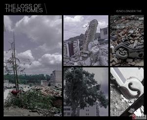 罗坝拆迁,一片废墟,逝去的家园