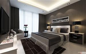 105平现代简约二居室 装修效果图 秦阳花园