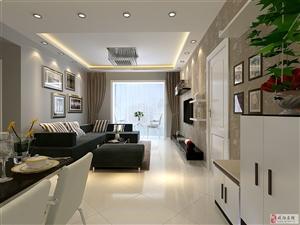 105平现代简约二居室|装修效果图|秦阳花园