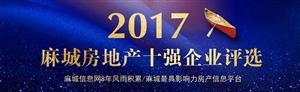 城市之星2017麻城房地产十强企业评选