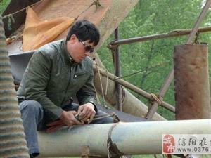 淮滨、固始两县联合打击白露河非法采砂行为