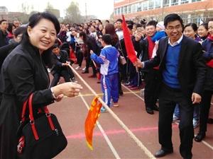 """辉南四中举办""""迎五一""""拔河比赛"""