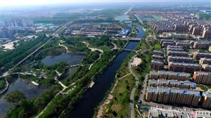 美极了!航拍改造后的商河县城和滨河湿地公园