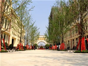 这里,有广汉目前最大的小区广场――金雁地产9年大成荣耀新作:欧城联邦