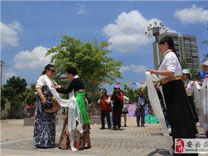 安岳第十届柠檬花节龙台分会场迎来锅庄舞交流会