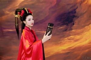 女神来了~~~刘小静古风写真曝光,身着红衣尽显东方之美(图片)
