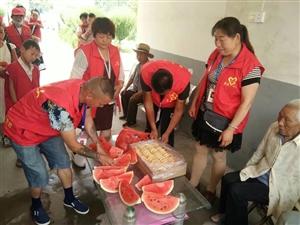 薛庄分会端午节走访敬老院老人和麻风院老人以及两个特困家庭