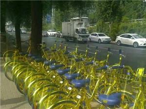 新鲜了!土豪金共享单车,能充电!!!!