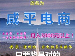"""公告:通许淘宝培训中心更名为""""咸平电商"""",月入3000以上!你也可以!"""