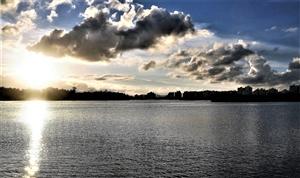 美在夕阳――万泉河