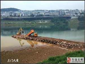 【苍溪】嘉陵江河道整治工程在进行中【图】