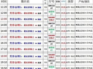 建水巨幕影城6月26日(周一)上映表