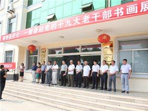 蒙阴县庆七一暨喜迎党的十九大老干部书画展隆重开幕