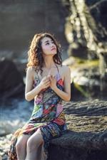 柴碧云夏日清新写真,清爽的蓝和纯粹的白碰撞出夏日的清凉气息(图片)