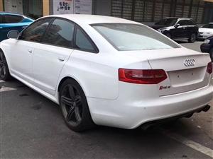 12款奥迪RS6-V10-5.2-双涡轮增压、白色骚红内