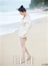 杨幂为某时尚杂志拍摄的双封面夏日大片曝光,清凉夏日的气息扑面而来