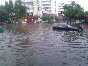 今日潢川:一场暴雨开启看海模式!家里没有船的千万别出门...