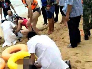 悲剧!几个年轻美女,就这样没了!在沙滩玩水被海浪卷走!