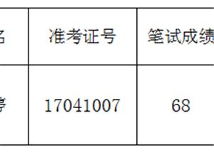 关于递补陈婷进入南京市六合区面向社会招聘社会工作者政审环节的公示