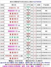 建水巨幕影城7月16日(周日)上映表