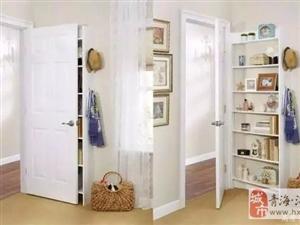 门后1�O的位置别浪费了,这样用竟然比柜子还好用!