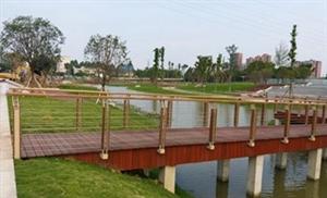 新建生态公园即将建成投用
