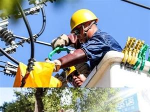 镜头下的供电抢修工