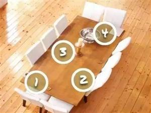 餐桌旁这四个位置,暴露了你的内心世界!