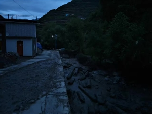 舟曲县磨沟村8.7号夜间引发小河流洪水