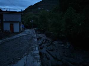 磨沟村8.7号夜间引发小河流洪水