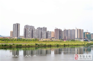实拍2017年苍溪江南新区进展图