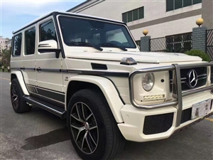 2015奔驰G63 白色红格子皮