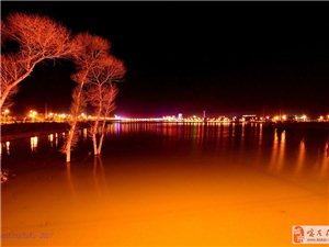 龙源湖桥上观景