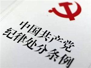 三河市�t阳镇党委委员、人大主席兼总工会主席杨宇浩受到留党察看一年处分